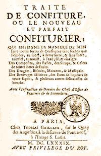 Le nouveau et parfait confiturier 1689